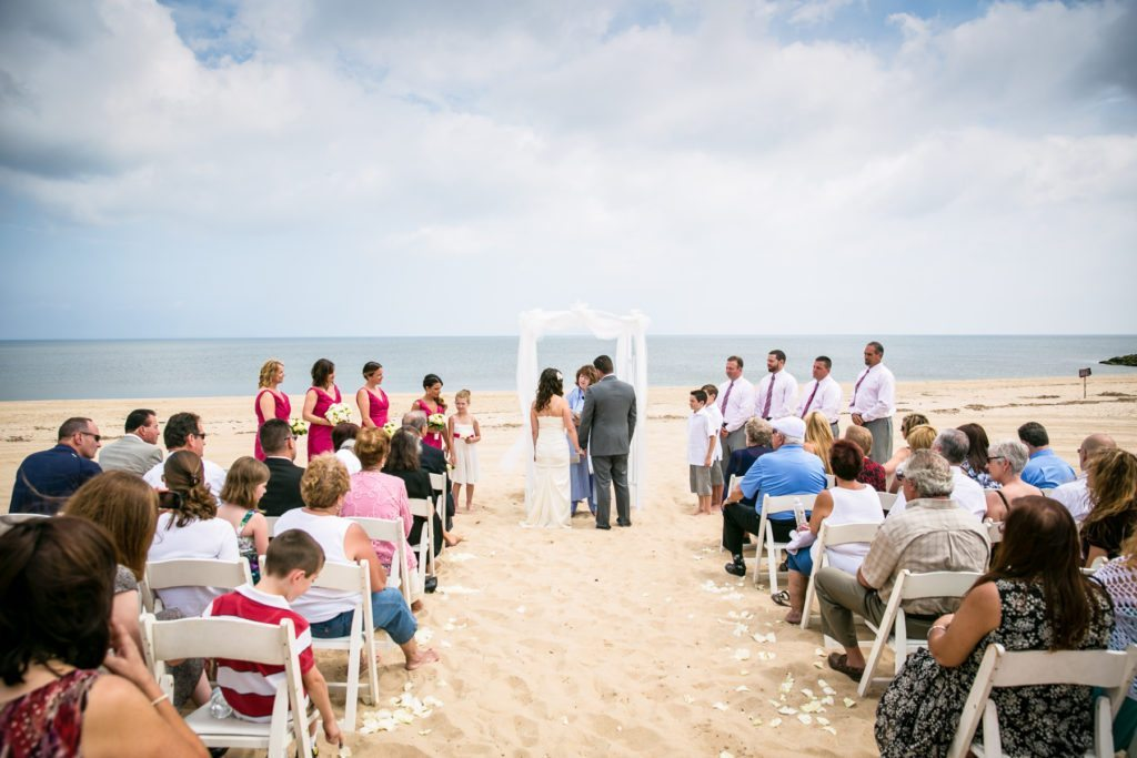 Beach wedding photos for an article on should you see each other before the wedding by NYC wedding photojournalist, Kelly Williams