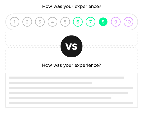 how-was-your-experience-score-design
