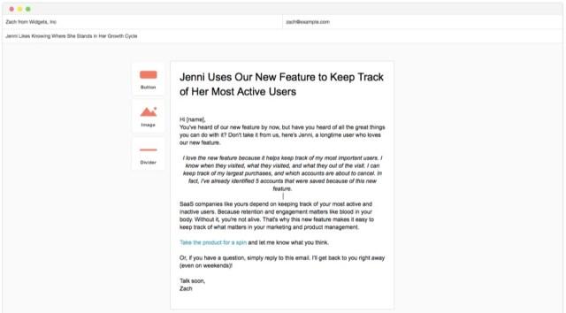 jenni testimonial email campaign