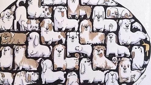 Hunde-Tetris - Detail - Daily Illu Tag 87 - Nadine Reitz