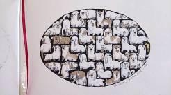 Hunde-Tetris - Daily Illu Tag 87 - Nadine Reitz -