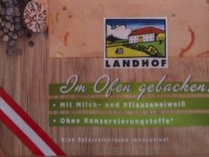 """Landhof """"Die Ohne"""" Leberkäse = Fleischkäse"""