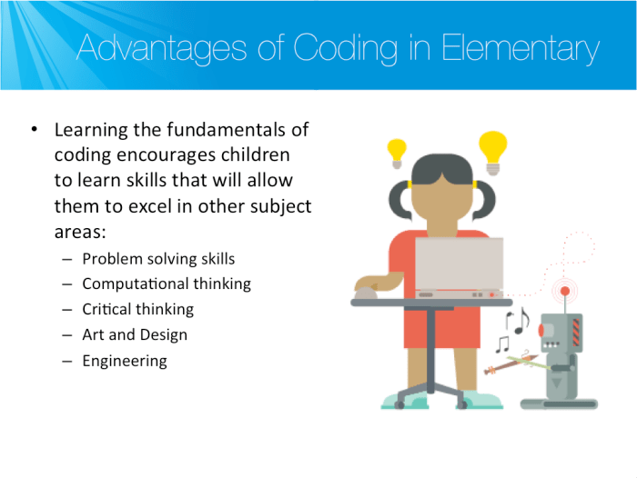 Advantages of coding in elementary school