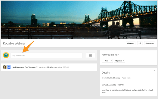 Submit your questions on the google event page