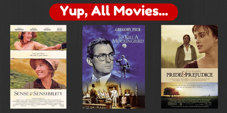 Yup, they are all movies too.