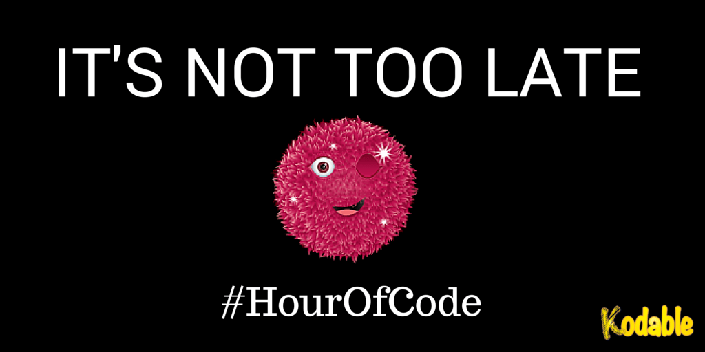 It's not too late to join the Hour of Code with Kodable