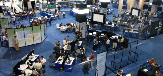 SAN DIEGO - JULY 14: ESRI (Environmental Systems Research Institute) user convention trade floor. July 14 2010 in San Diego California ** Note: Slight blurriness, best at smaller sizes