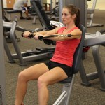 Bethany doing cable press at LA Fitness 2