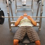 LA Fitness Member Bryant Performing a Close-Grip Bench Press-1
