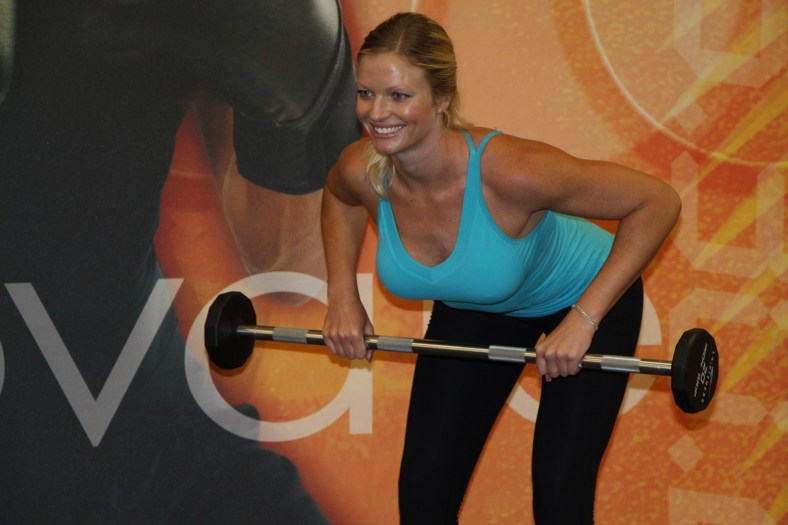 Danica working out at LA Fitness to get ready for summer (10)