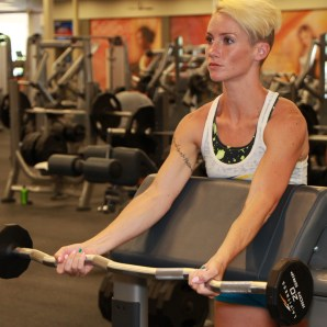 preacher curls with curl bar at LA Fitness (1)