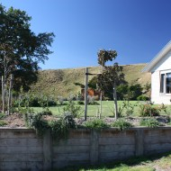 The retaining wall