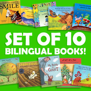 bilingual children's book set available in 30 languages