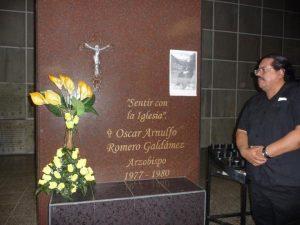 Francisco at Monsignor Romero's Crypt