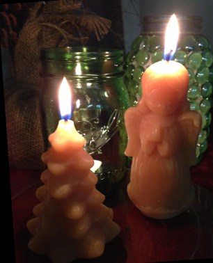 The jars look great paired with Lehman's Beeswax Christmas Candles.
