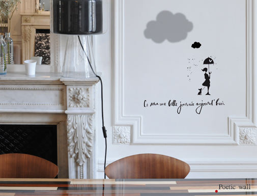 Poetic wall - Nouvelle collection 2016 - Stickers textes et dessins