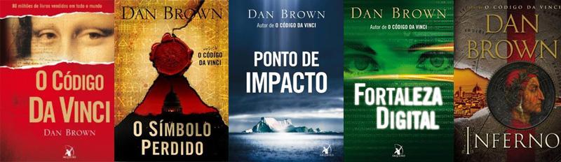 Indicação de livros disponíveis: Dan Brown