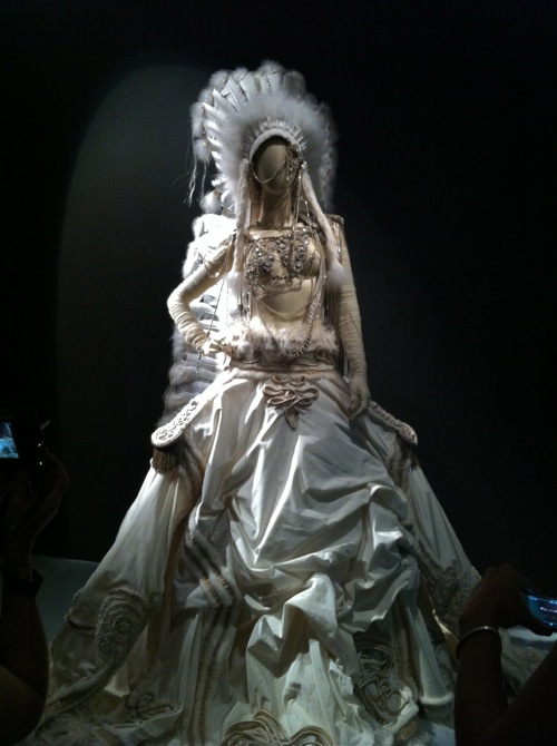 """La mariee"" Wedding Gown on display at Jean Paul Gaultier exhibit at the de Young in San Francisco"