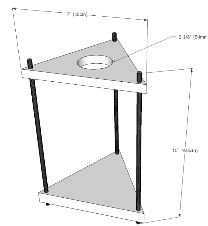 mock up vector of DIY drip coffee stand with dimensions Simple Wood DIY Project