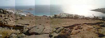 Panorama de la virgule de terre