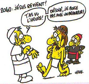 """""""Jésus revient"""" par Charb - Fluide Glacial Série Or N°46"""