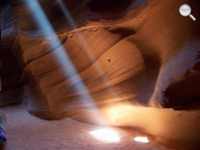 Upper Antelope Canyon - rais de lumière