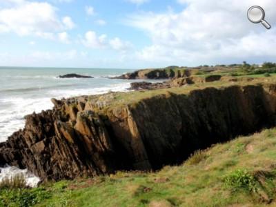 Vue d'un sentier côtier du Pouldu