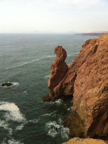 Vue de la côte à Mirleft