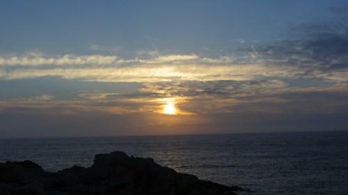 Soleil couchant sur l'Île d'Ouessant