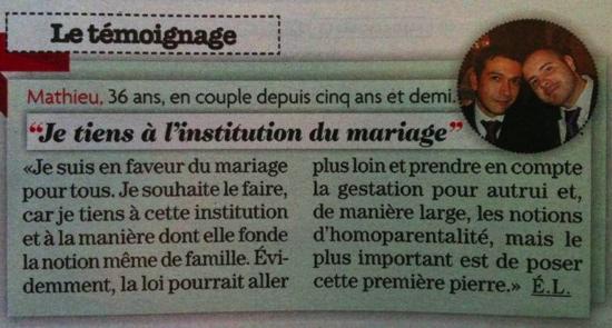 Téléstar - Matoo sur le mariage pour tous