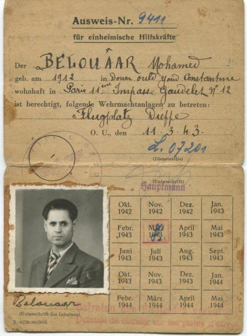 Ausweis de mon grand-père de 1943