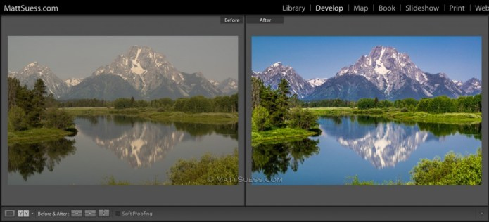 A before and after of one of the 9 RAW files you will learn how to process and enhance.