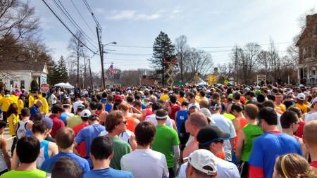 boston marathon start forward