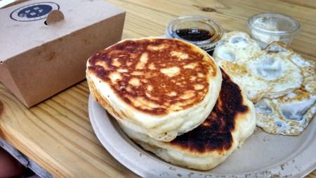 Proper Breakfast gluten free pancakes eggs