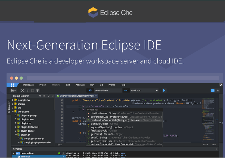 Eclipse Che looks promising, the cheese's moved around