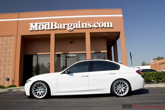White BMW M-Sport F30 335i Sideview