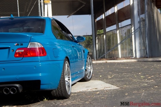 Laguna Seca Blue BMW E46 M3 Tail Lights