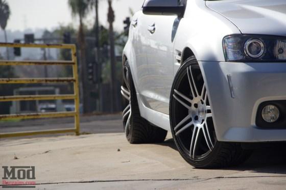 Silver Pontiac G8 7 Spoke Concept One Wheels