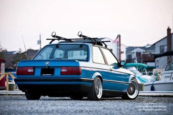 BMW E30 Blue Vintage Wheels
