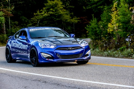 Blue Hyundai Genesis Coupe Modification