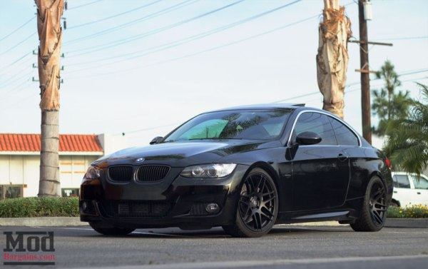Triple Black: Sean's BMW E92 335i on KW V1 Coilovers + Forgestar F14 Wheels