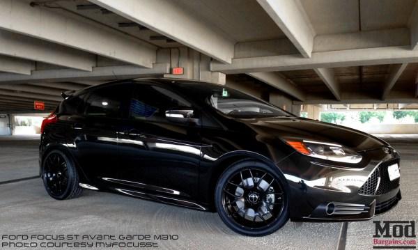 Total Blackout: Ford Focus ST on Matte Black Avant Garde M310 Wheels