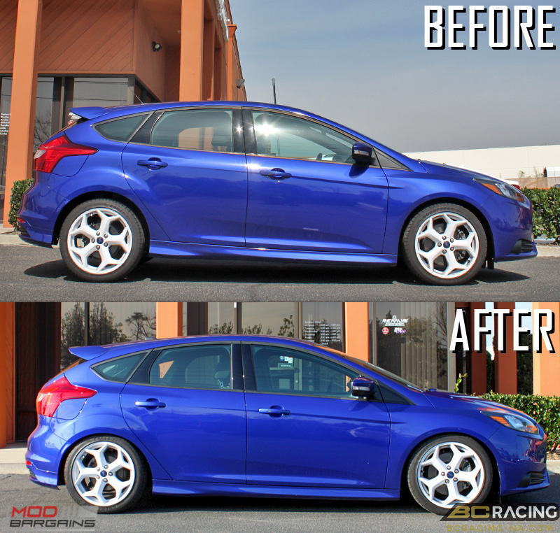 Focus_ST_BC_Coilovers_Before_After