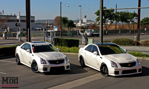 Two Pair: Hunter's Cadillac CTS-V on Eibach Springs with Mike's CTS-V