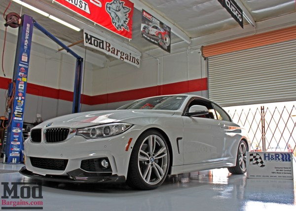 F33 BMW 435i on H&R Sport Springs gets BIG HP Gains with Air Induction Upgrades
