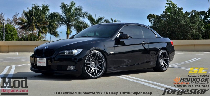 Black_BMW_E93_Forgestar-F14-19x9DC19x10SDC-hankook-st-coilovers-jeffkramer-alan-cust-img001