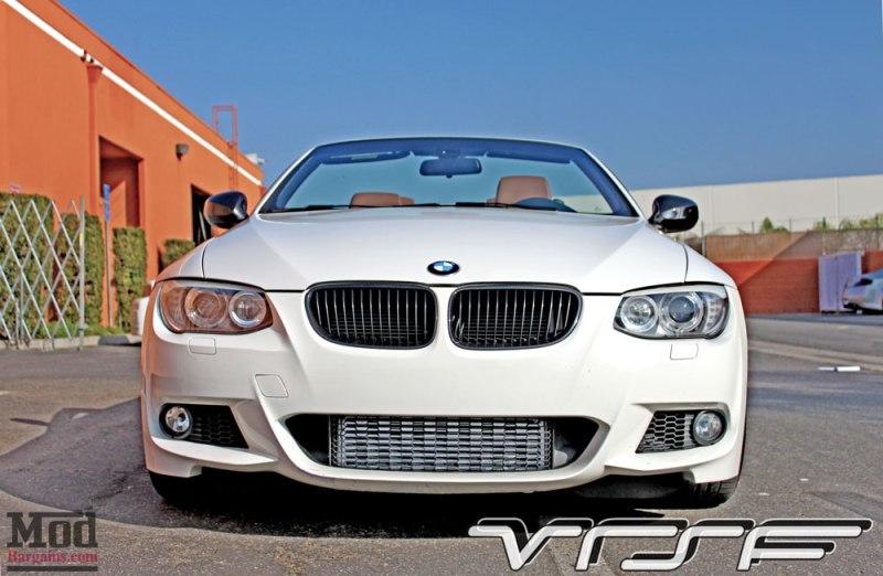 BMW E93 335is White VRSF FMIC Intake Chargepipe JB4 012