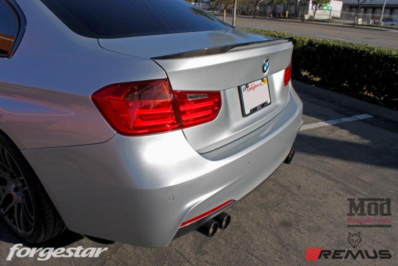 BMW_F30_328i_Forgestar_F14_Remus_Exhaust_Injen_N20_Intake_CF_Mirrors_CFSpoiler_IMG008