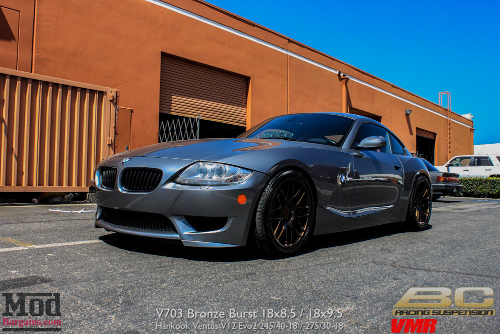 Quick Snap Bmw Z4 M Coupe On Bc Coilovers On Custom Vmr V703 Bronze Burst Wheels Modbargains