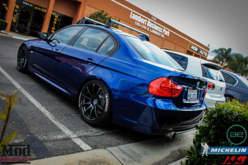 BMW_E90_335i_Advan_Michelin_Blue_roof_rack_ae_exhaust-10